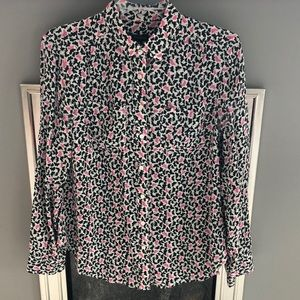 Silk Talbots Button Down Blouse